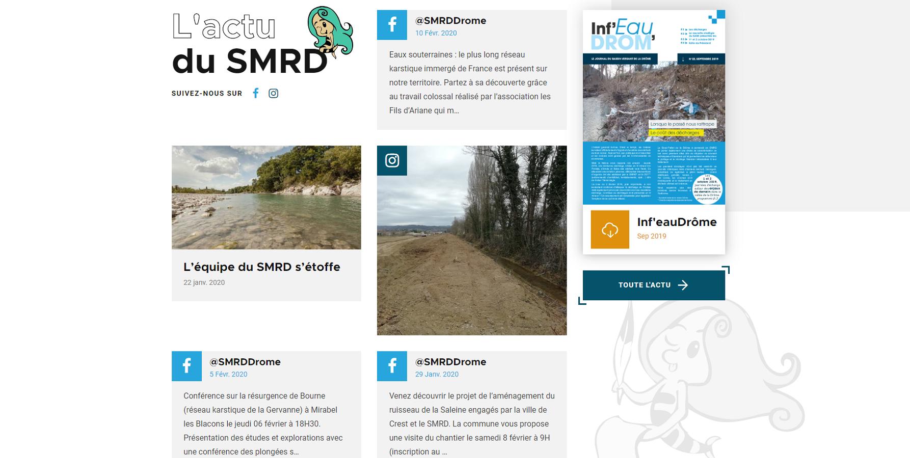 Social Wall du SMRD