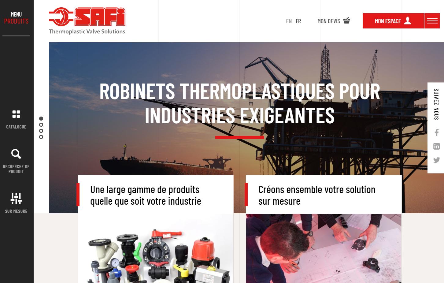 Page d'accueil du site industriel de Safi