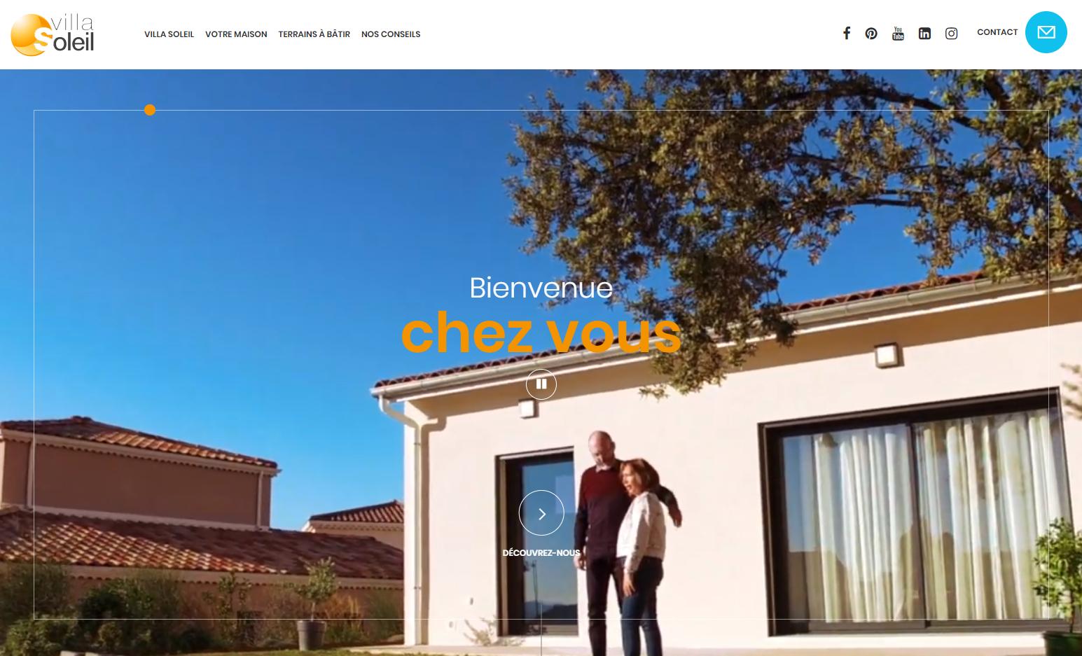 Page d'accueil du site Villa Soleil