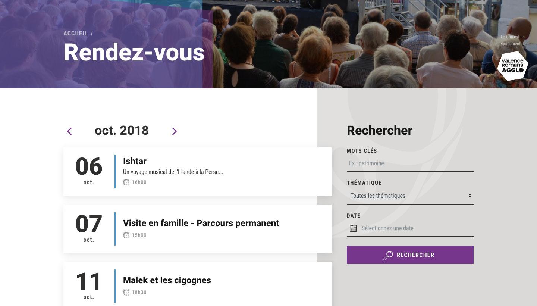Agenda du site du Cpa de Valence