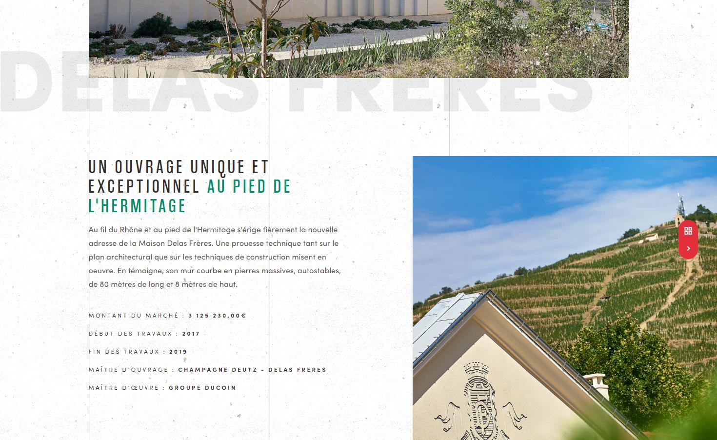 Page réalisation du site B2B Ferreira Bâtiment