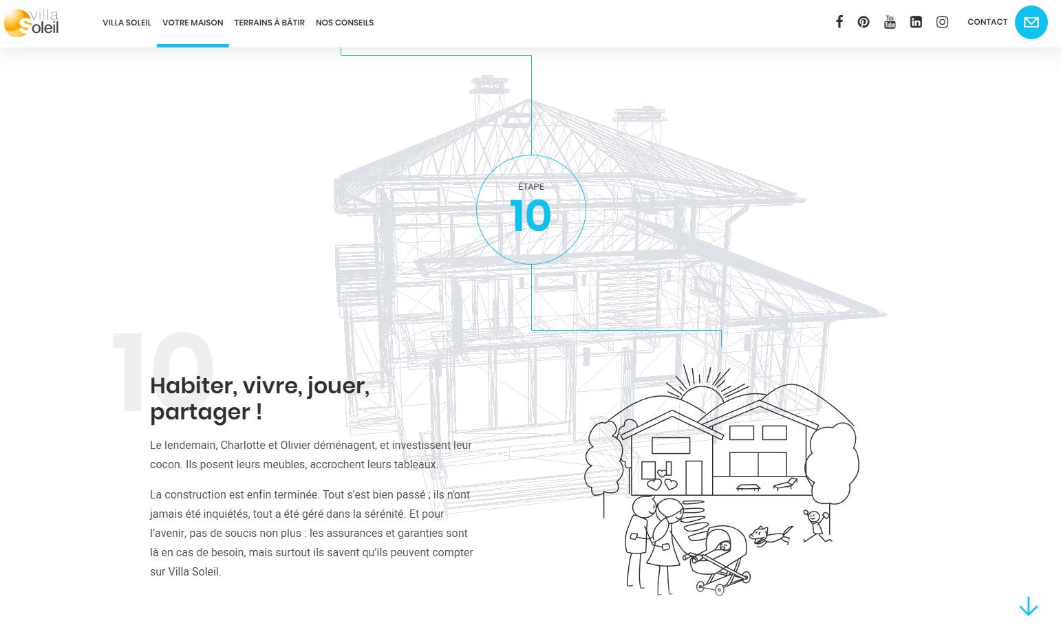 storytelling du site villa soleil
