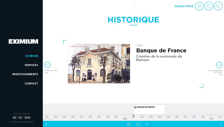 Historique du site Eximium