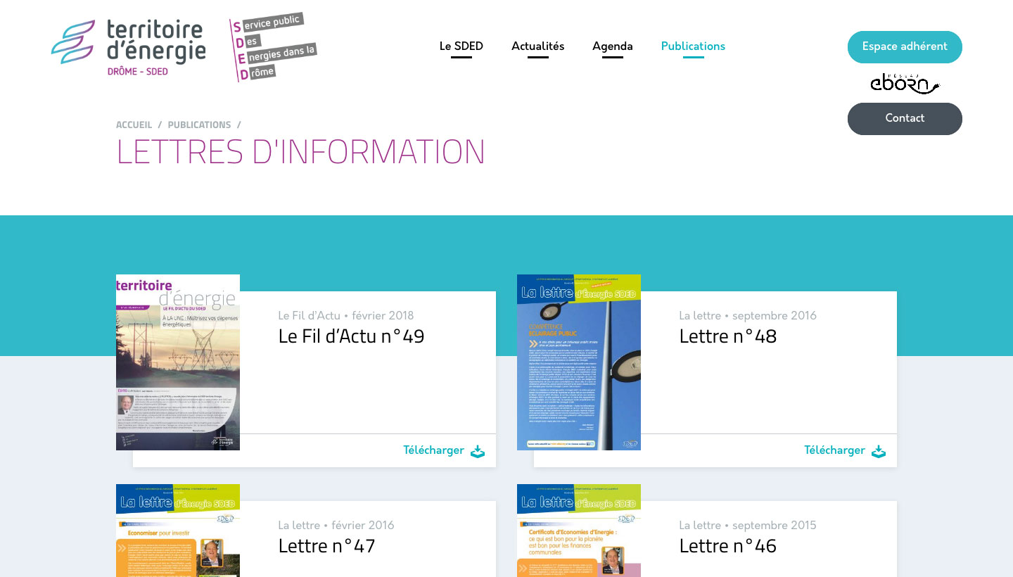 Publications du site du SDED