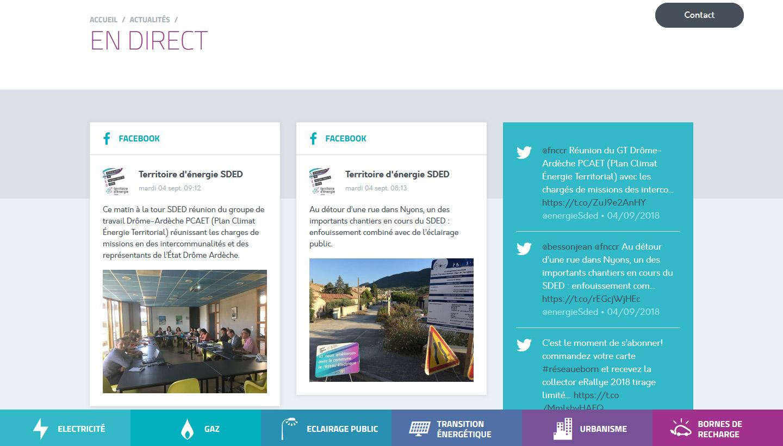 Social Wall du site du SMRD