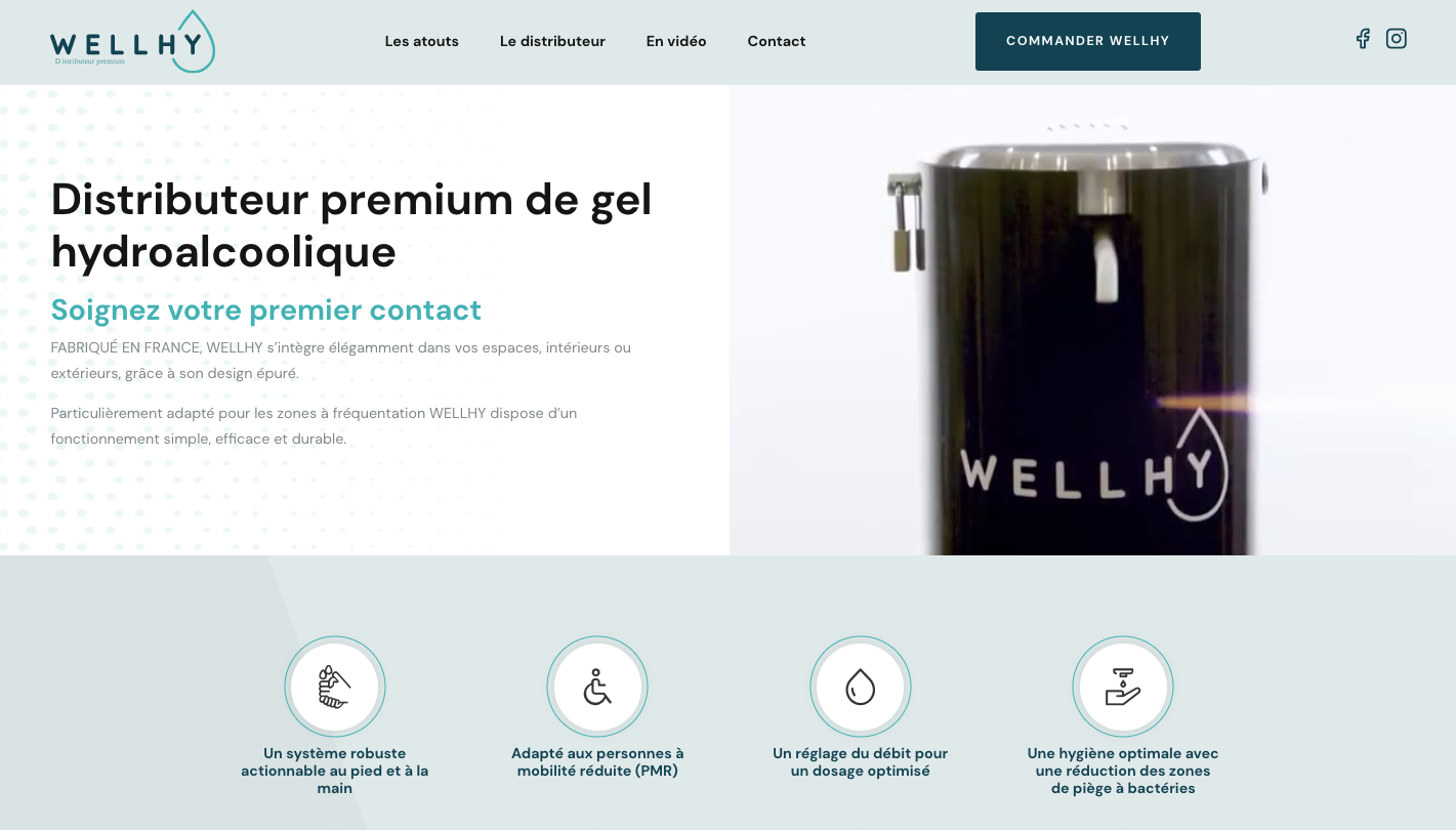 Home page du site Wellhy