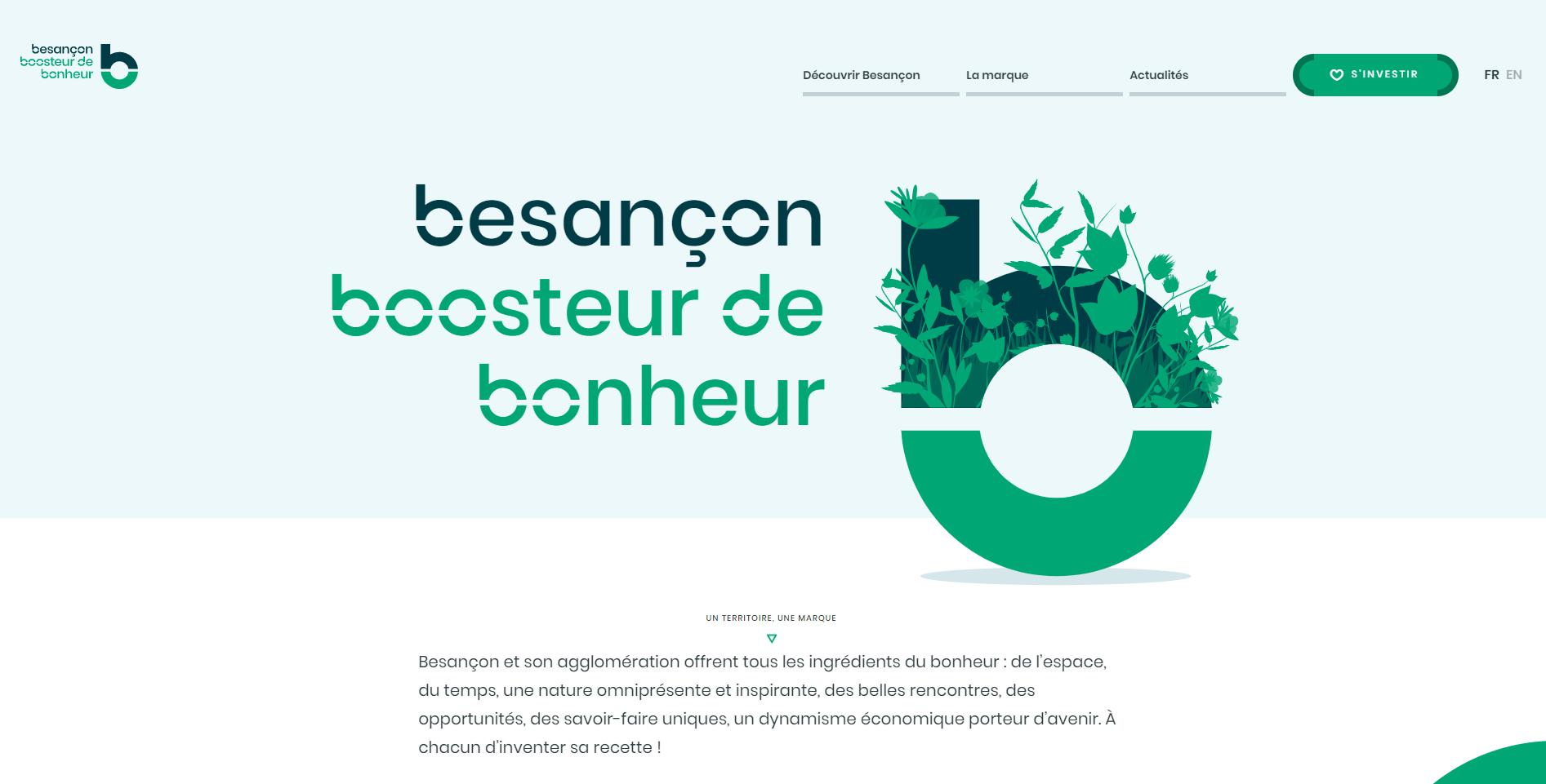 La page accueil du site Besançon